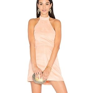 NWT Revolve WYLDR Infinity Blush Faux Suede Dress
